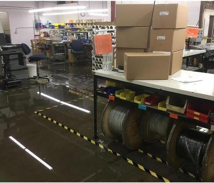 Water Damage in Victor Office Building